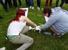 'Drone do aborto' realiza voo entre Alemanha e Polônia; veja vídeo