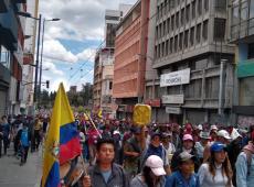Indígenas marcham até centro histórico de Quito contra presidente do Equador