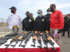Venezuela apreende carregamento de armas enviadas dos EUA por via marítima