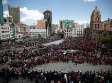 """""""A nombre de Dios nos están matando, (...) están haciendo masacre en Bolivia"""""""