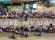 Mianmar: Policiais atiram em funeral de vítima de protestos