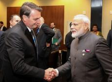 Bolsonaro viaja à Índia para assinar acordos comerciais e se reunir com 'alma gêmea'