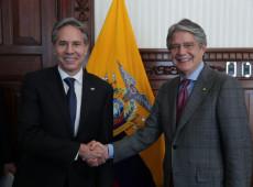 Equador: após decretar estado de exceção, presidente recebe secretário de Estado dos EUA