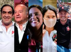 Campanha presidencial termina no Peru com cinco candidatos em empate técnico