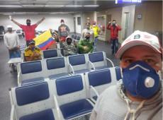 Covid-19 avança e consulado abandona colombianos no aeroporto em São Paulo
