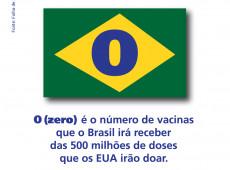 Brasil fica de fora da doação de vacinas feita pelos EUA