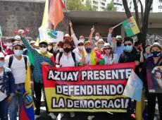Equatorianos protestam contra ataques do Conselho Eleitoral à coalizão de esquerda