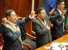 """""""Democracia não é apenas votar para eleger autoridades"""", diz Arce em posse como presidente da Bolívia"""