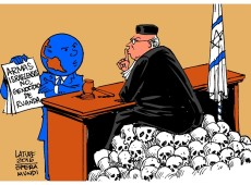 Charge do Latuff: Justiça de Israel nega exibir detalhes de venda de armas a Ruanda durante genocídio