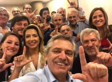 Alberto Fernández, favorito nas eleições da Argentina, dá parabéns a Lula por aniversário