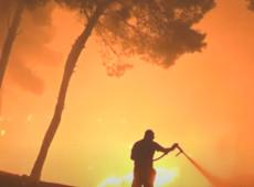 Grécia: Combate a incêndios florestais em ilha chega ao sétimo dia