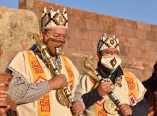 """Após atentado, Luis Arce vai a cerimônia indígena: """"Energias de nossos ancestrais nos acompanham"""""""