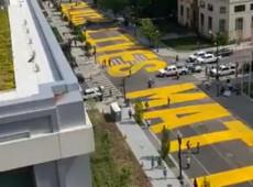 Prefeita de Washington manda pintar 'vidas negras importam' em avenida em frente à Casa Branca