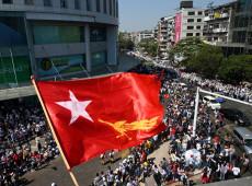 Mianmar registra 5º  dia consecutivo de protestos nas ruas contra golpe militar