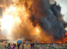 Incêndio atinge campo de refugiados rohingya em Bangladesh