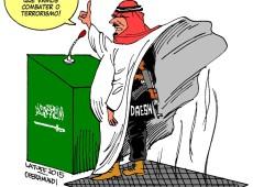 Charge do Latuff: Piada de fim de ano, Arábia Saudita vai liderar coalizão antiterrorismo