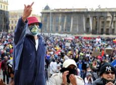 Milhares de jovens protestam, na Colômbia, para repudiar brutalidade policial