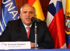 'Maioria parlamentar não pode estar acima de votação cidadã', diz secretário-geral da Unasul