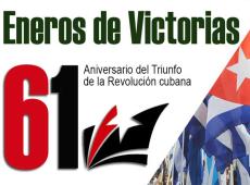 Cuba festeja aniversario 61 de triunfo de la Revolución y resistencia al imperialismo