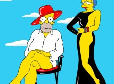 """Artista italiano cria """"ensaio sensual"""" com os Simpsons"""
