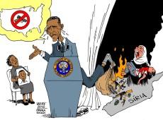 Charge do Latuff: Obama e as armas: quais destas lágrimas são reais?