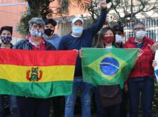 """SP: """"Exigimos que o calendário eleitoral seja respeitado"""", dizem bolivianos em protesto"""