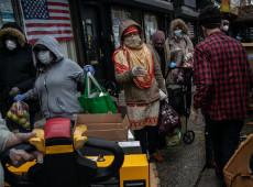 Um dos locais mais afetados pela pandemia, Nova York vê crescer as filas de fome na cidade