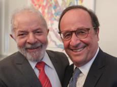 Na França, Lula encontra Mélenchon, Sebastião Salgado e François Hollande