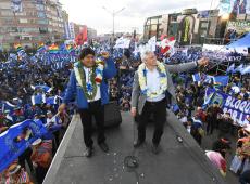 Em comício final, Evo diz que sua vitória será a derrota do neoliberalismo e do FMI