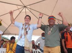 Presidente da Confederação Indígena do Equador anuncia apoio à candidatura de Arauz