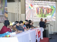 Não permitiremos que direita e capachos do imperialismo voltem na A. Latina, diz Evo a movimentos sociais