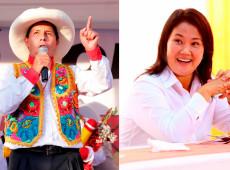 Peru: Em nova pesquisa, Castillo aparece com 9 pontos de vantagem sobre Keiko Fujimori