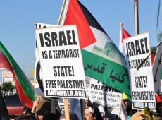 Palestinos protestam contra assinatura de acordo entre Emirados Árabes, Bahrein e Israel