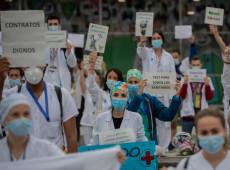 Coronavírus coloca saúde da Espanha de joelhos