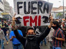 Em protesto, equatorianos exigem fim dos pactos celebrados por Lenín Moreno com FMI