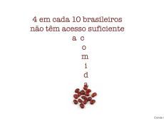 Conde e Carvall: Score! 4 em cada 10 brasileiros não têm acesso a comida