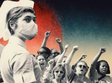 Na linha de frente da pandemia, enfermeiras convivem com precarização e baixos salários