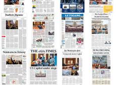 As capas dos jornais: como a imprensa internacional destacou a invasão ao Capitólio?