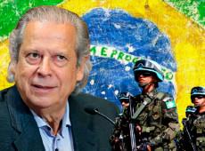 José Dirceu: Bolsonaro quer golpe e volta da ditadura, mas não tem apoio popular