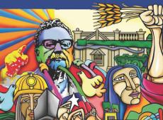 Chilenos celebran el 50 aniversario del triunfo electoral del presidente Salvador Allende