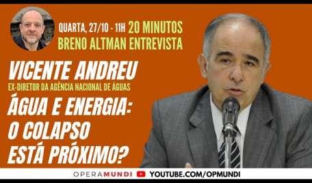 VICENTE ANDREU: ÁGUA E ENERGIA: O COLAPSO ESTÁ PRÓXIMO? - 20 Minutos Entrevista