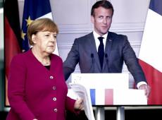 Merkel e Macron propõem fundo de 500 bilhões de euros