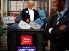 Museu de cera em Berlim põe Trump em lixeira