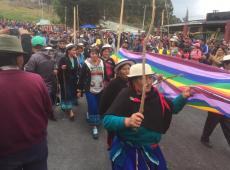 Indígenas de diversas regiões do Equador marcham até Quito em protesto contra Moreno
