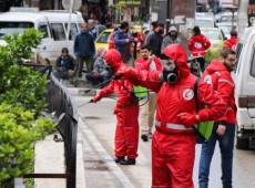 A pandemia de coronavírus em fotos: grupo limpa ruas em cidades da Síria - 24.mar.20