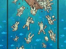 Com charge premiada, cartunista iraniano denuncia indiferença internacional a emergência de refugiados