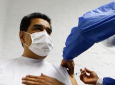 Presidente da Venezuela, Nicolás Maduro recebe 1ª dose da vacina Sputnik V contra covid-19