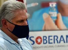 Vacinas cubanas contra Covid-19 estarão à disposição da América Latina, diz presidente Díaz-Canel