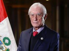 Ministro de Relações Exteriores do Peru renuncia após 20 dias no cargo
