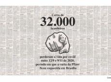Conde e Carvall: Enquanto Pfizer foi ignorada, 32 mil brasileiros morreram de covid-19